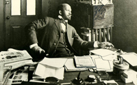 W.E.B Du Bois in office